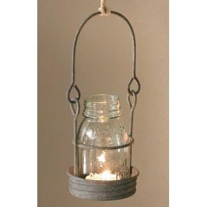 ¼ Pint Hanging Mason Jar Candle Holder