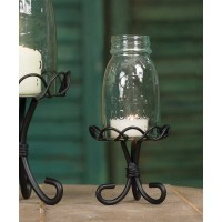 ¼ Pint Mason Jar Chimney with Stand