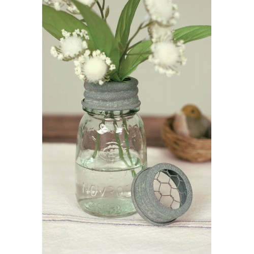 ¼ Pint Mason Jar Flower Frog