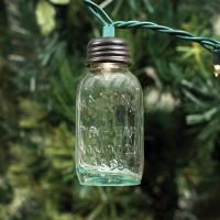 """3½"""" Glass Mason Jar Ornament for Christmas Lights"""
