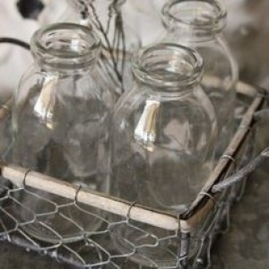 4-Milk Bottle Wire Tote