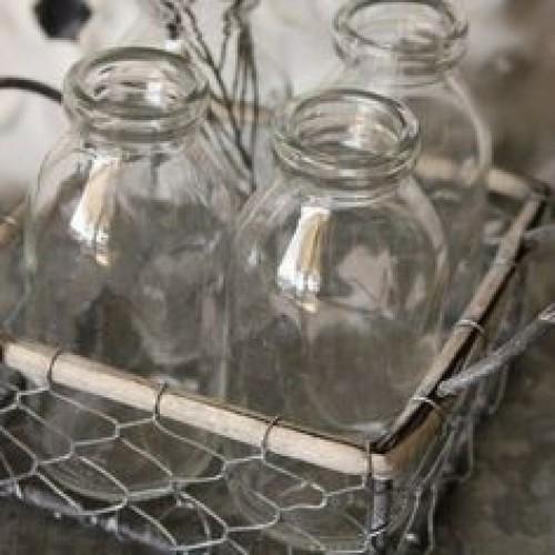 4-Milk Bottle Wire Tote