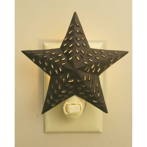 5¼ Punched Star Night Light