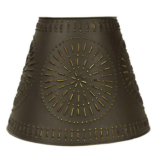 "9"" x 17"" x 12"" Pinwheel Tin Washer Top Lamp Shade"