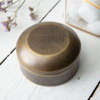 Antique Brass Aspirin Pill Box