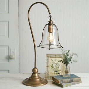 Antique Gooseneck Brass Lamp