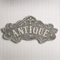 """""""Antique"""" Metal Sign"""
