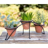 Arched Garden Stand with Three Pots