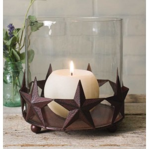 Barn Star Pillar Candle Holder