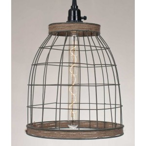 Basket Pendant Light with Jute