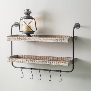 Basket Weave Wall Shelf