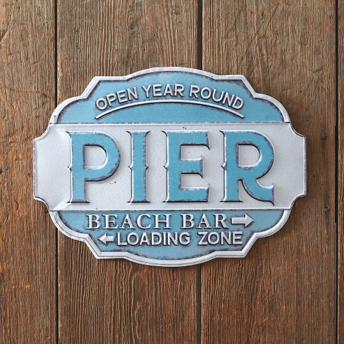Beach Pier Wall Sign