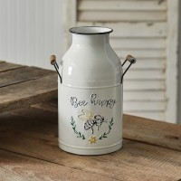 Bee Happy Jug with Wood Handles