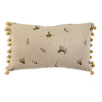 Bee's Accent Pillow with Pompoms