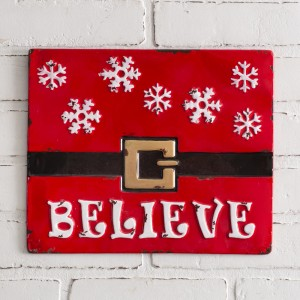 Believe Metal Wall Sign