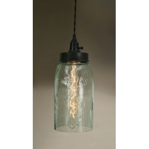 Big Mason Jar Pendant Light