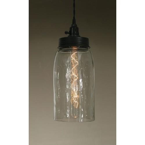 Big Mason Jar Pendant Light - Clear Glass