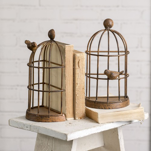 Bird Cage Bookends