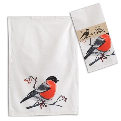 Bird with Berries Tea Towel - Box of 4