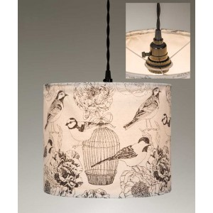 Birdcages Canvas Pendant Light