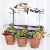 Birds on the Wire Wall Planter