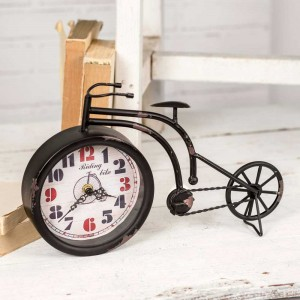 Black Bicycle Tabletop Clock