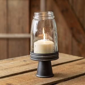 Black Mason Jar Chimney with Stand - Quart