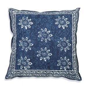 Blue Bell Cotton Throw Pillow