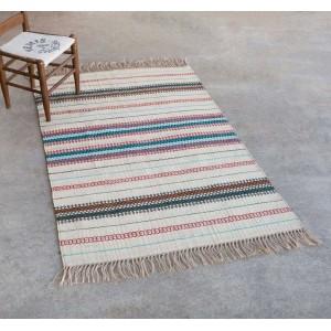 Boho Stripe Jute Rug, 4' x 6'