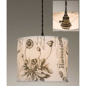 Botanical Prints Canvas Pendant Light