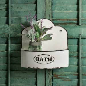 "Bowed ""Bath"" Wall Caddy"