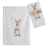Bunny with Flowers Tea Towel - Box of 4
