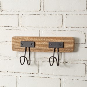 Carter Two Hook Wall Rack