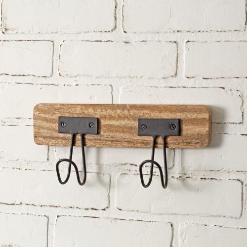 Carter Two Hook Wall Rack