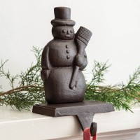 Cast Iron Snowman Stocking Holder