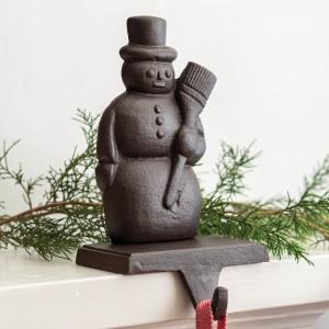 Cast Iron Snowman Stocking Holder