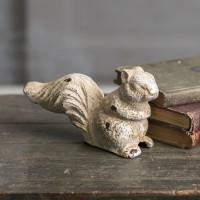 Cast Iron Squirrel Statue