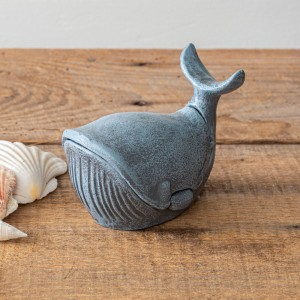 Cast Iron Whale Trinket Holder