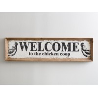 Chicken Coop Wood Wall Sign