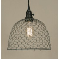 Chicken Wire Dome Pendant Light - Barn Roof