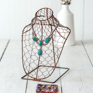Chicken Wire Necklace Bust