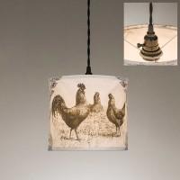 Chickens Canvas Pendant Light