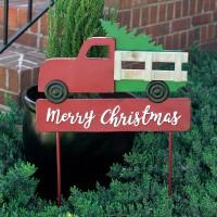 Christmas Truck Garden Stake