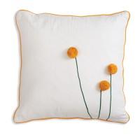 Sun Ball Flower Cotton Throw Pillow