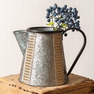 Copper and Galvanized Pitcher