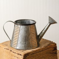 Copper and Galvanized Watering Can