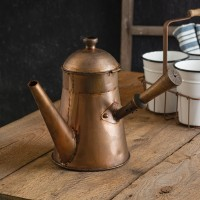 Copper Finish Coffee Pot with Handle