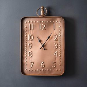 Copper Finish Wall Clock