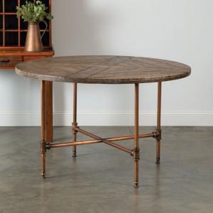 Copper Framed Farm Table