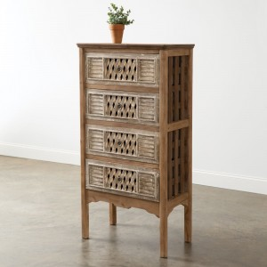 Country Basket Chest of Drawers